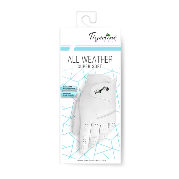 All Weather Super Soft Right Handed Golfer Glove White