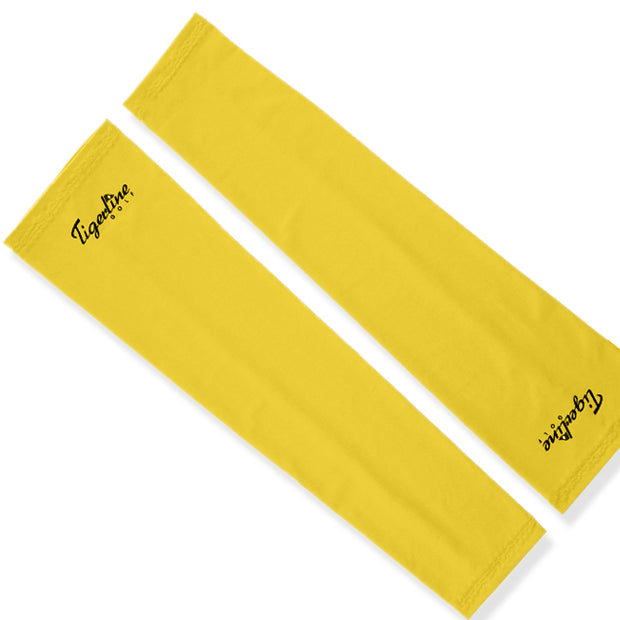 New & Improved High Compression Arm Sleeves Pair Neon Yellow