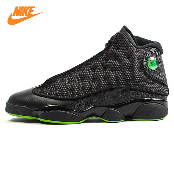 the latest b3a72 c9ebc ... top quality nike air jordan 13 retro altitude green mens sports  basketball shoes original outdoor 01634