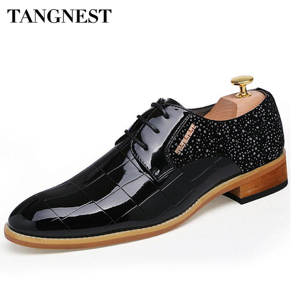 Tangnest Brand Men Formal Dress Shoes Man Fashion Pointed Toe