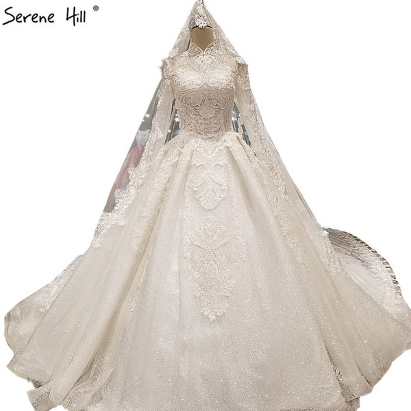 Newest Princess Style Long Sleeves Wedding Dresses Vintage High ...