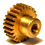 "PINION 25 TOOTH 3/4"" X 1/4"" BRASS"