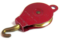 PULLEY BLOCK 151 1950'S ONE SHEAVE  BRASS PULLEY