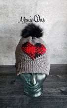Load image into Gallery viewer, Plaid Heart Beanie