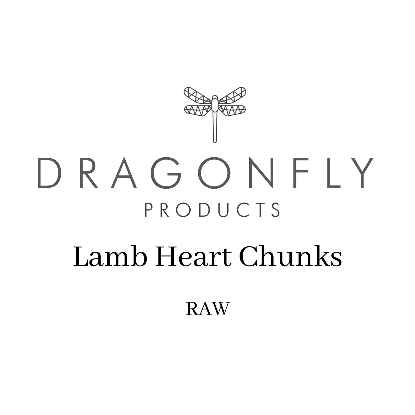 Lamb Heart Chunks (1kg) - RAW