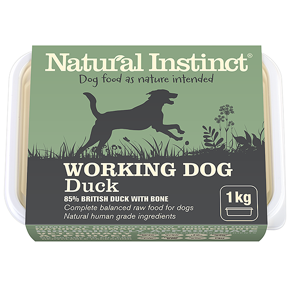 natural instinct working dog food duck