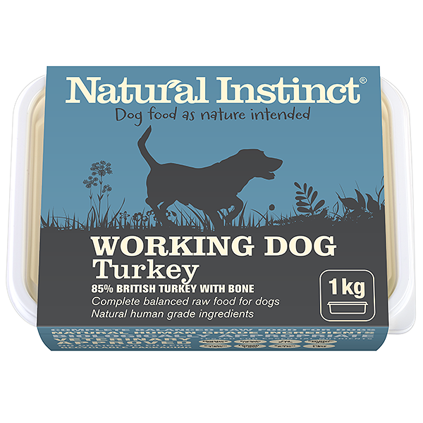 natural instinct working dog food turkey