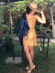 Van Clay Gold Foil Dress