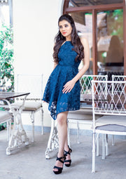 Navy Plain Sight Mini Dress