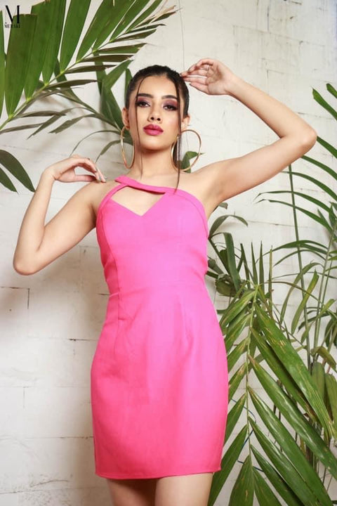 Show off dress pin up pink