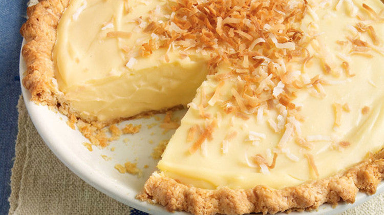 Coconut Custard Cream Pie