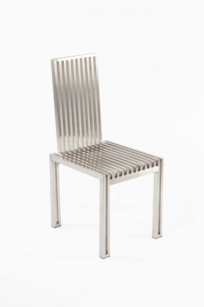 The Brushed Stainless Steel Dining Chair [FHC08SSBRUSH] 3