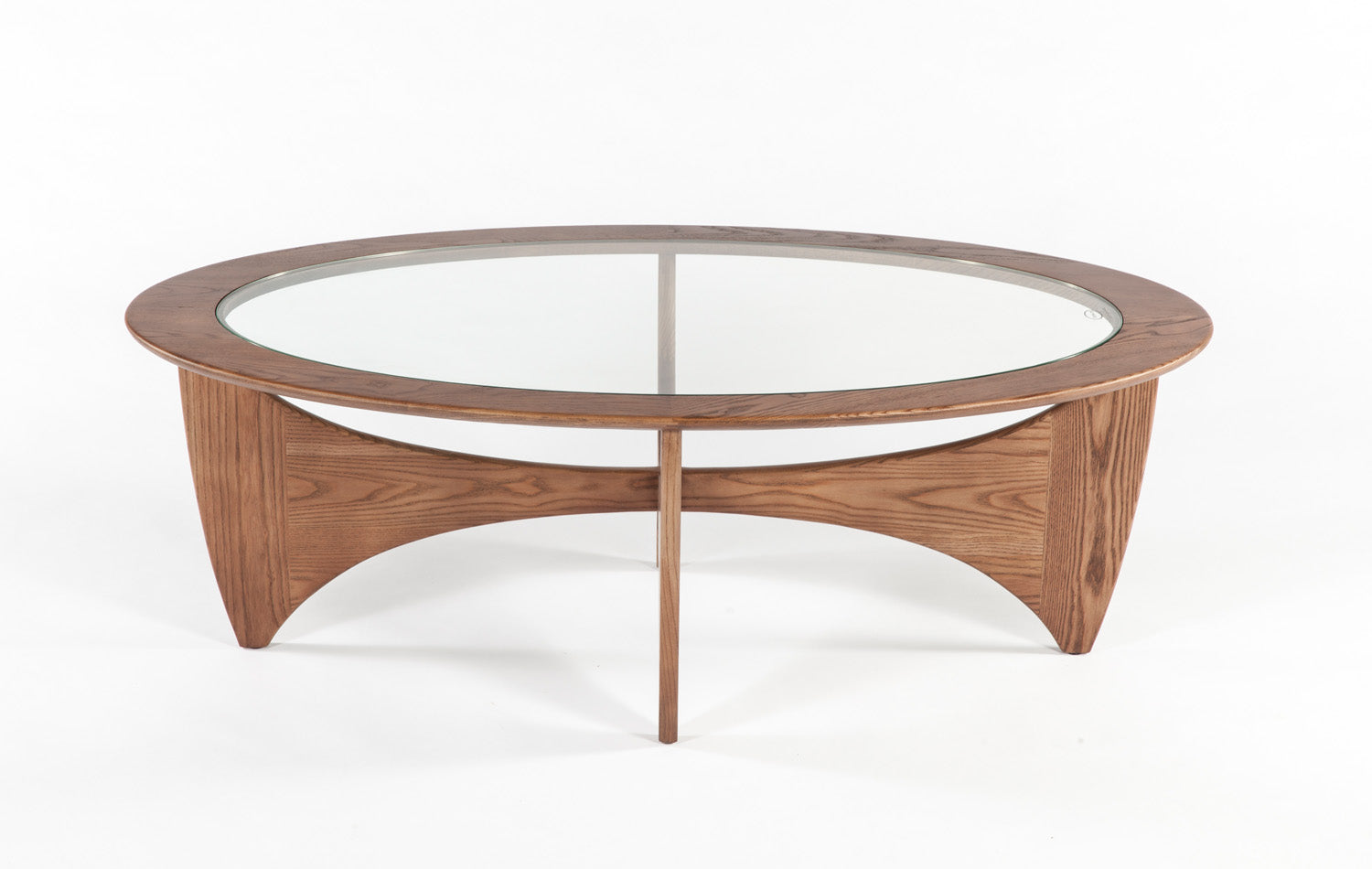 The Glass Coffee Table [FET5059WALNUT]