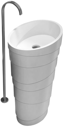 The Arndt True Solid Surface Pedestal Sink