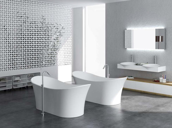 Controlbrand True Solid Surface Soaking Tub - Cloud [BW0256SW]