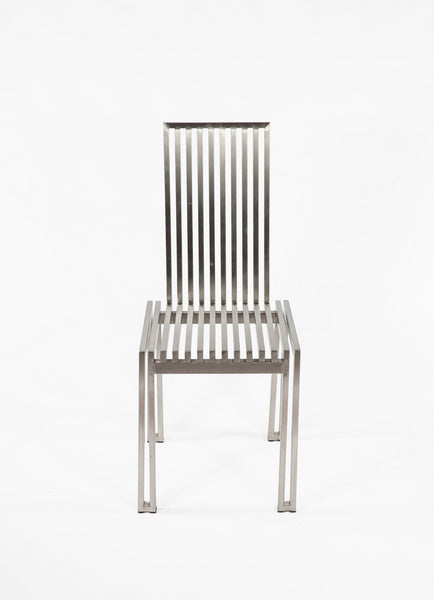 The Brushed Stainless Steel Dining Chair [FHC08SSBRUSH] 2