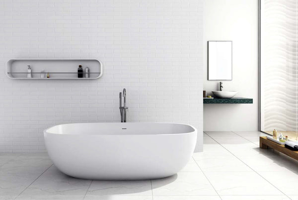 Controlbrand True Solid Surface Soaking Tub - Pure Glossy [BW1856SW]