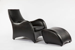 The Tampere Lounge Chair and Ottoman [FQC005BLKSET] 2