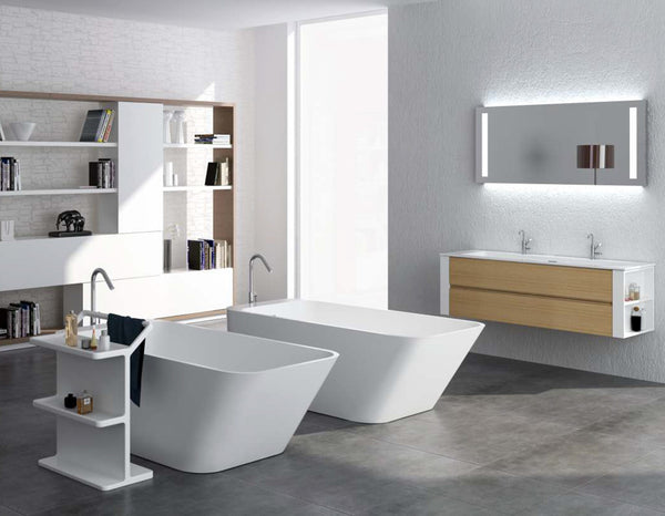 Controlbrand True Solid Surface Soaking Tub - Balance Matte [BW6456MW]