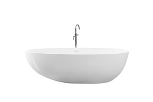 Controlbrand True Solid Surface Soaking Tub - Pebble [BW0556SW]