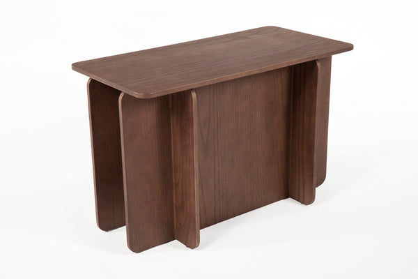 The House of Cards End Table - Short [FST0042WALNUT] 3