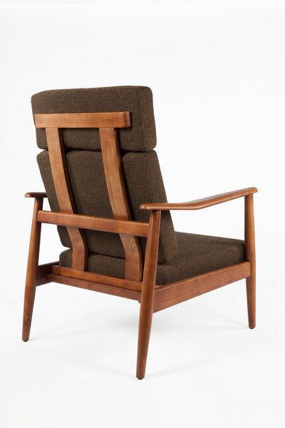Aalborg High Back Chair - Dark Brown [FYC939FDBRN] 4