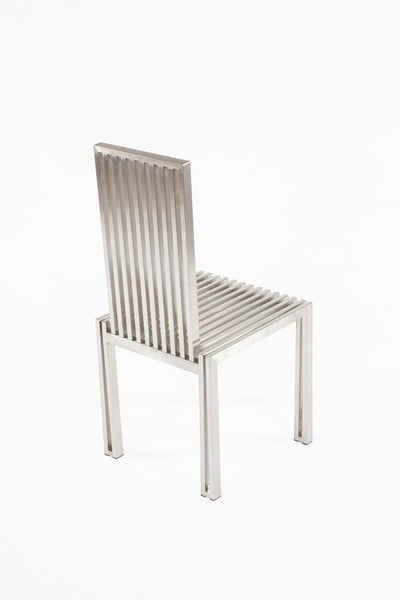 The Brushed Stainless Steel Dining Chair [FHC08SSBRUSH] 4