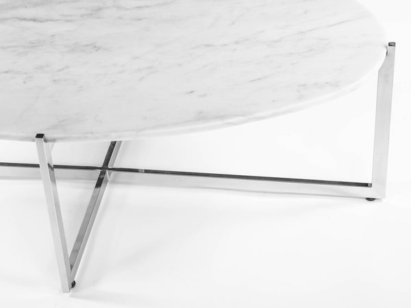 Oval Cocktail Table [FHT09WHT] 1