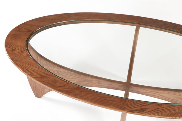 The Glass Coffee Table [FET5059WALNUT] 3