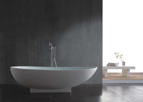 Controlbrand True Solid Surface Soaking Tub - Grace Matte [BW0156MW] 2