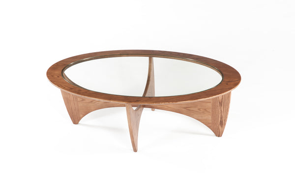 The Glass Coffee Table [FET5059WALNUT] 2