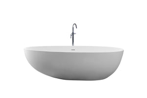 Controlbrand True Solid Surface Soaking Tub - Pebble [BW0556MW]