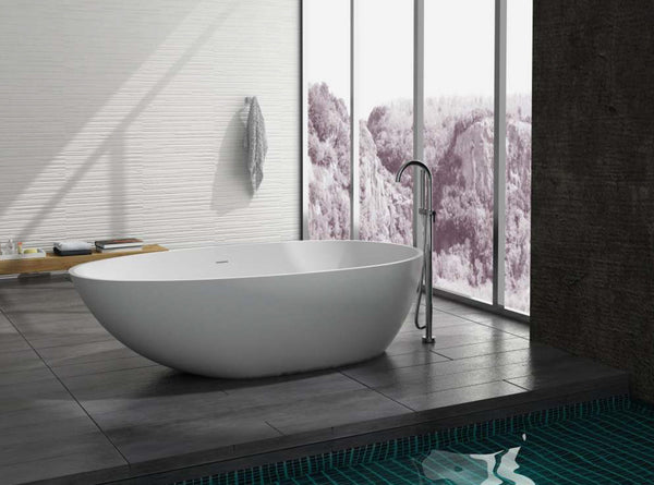 Controlbrand True Solid Surface Soaking Tub - Pebble Matte [BW0556MW]