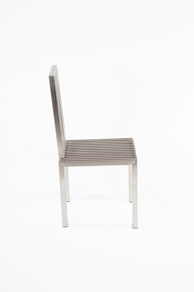 The Brushed Stainless Steel Dining Chair [FHC08SSBRUSH]