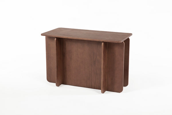 The House of Cards End Table - Short [FST0042WALNUT] 4