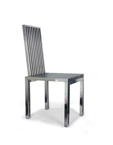 Polished Stainless Steel Dining Chair [FHC08SS] 2
