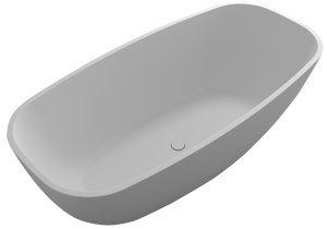 Controlbrand True Solid Surface Soaking Tub - Pure [BW1856MW]