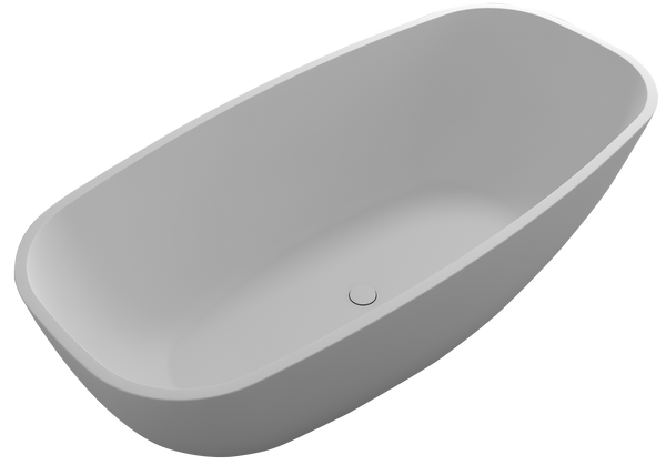 Controlbrand True Solid Surface Soaking Tub - Pure [BW1856SW]