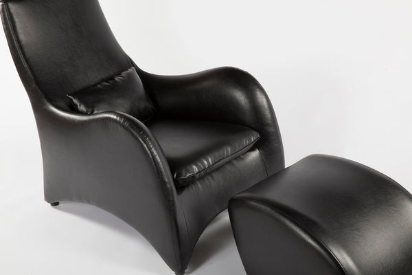 The Tampere Lounge Chair and Ottoman [FQC005BLKSET] 5
