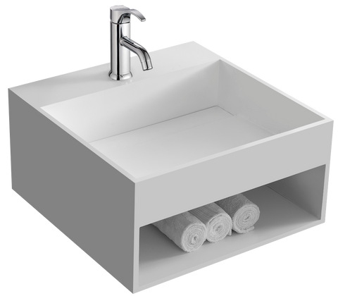 The Laszlo True Solid Surface Sink and Cabinet [BW6383MW]
