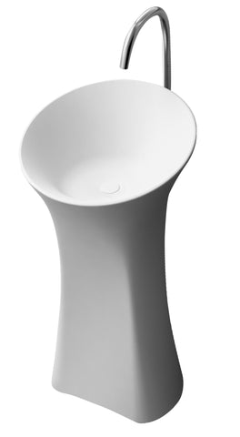 The Klee True Solid Surface Pedestal Sink