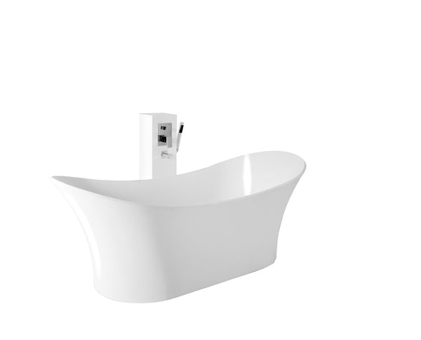Controlbrand True Solid Surface Soaking Tub - Cloud [BW0256SW] 2