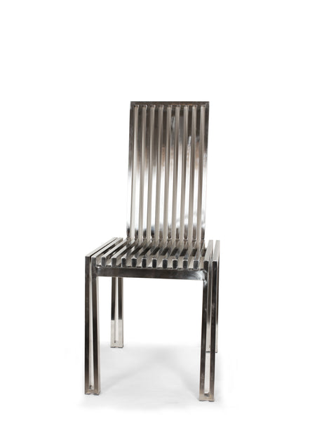 Polished Stainless Steel Dining Chair [FHC08SS] 4
