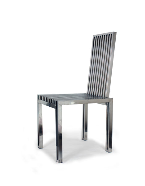 Polished Stainless Steel Dining Chair [FHC08SS] 3