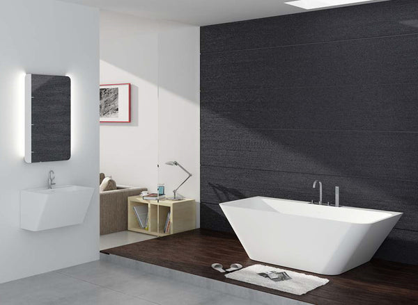 Controlbrand True Solid Surface Soaking Tub - Bliss Glossy [BW5456SW]