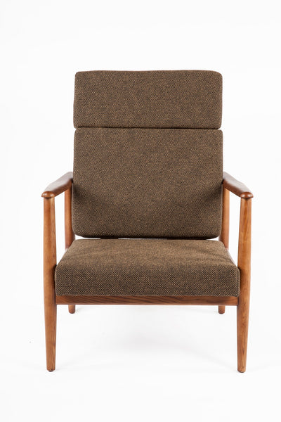 Aalborg High Back Chair - Dark Brown [FYC939FDBRN] 2