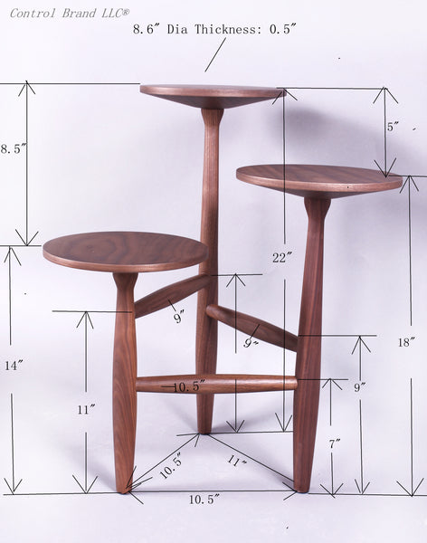 The Francine Side Table in Solid Walnut S [FET5219A] 2