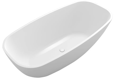 Controlbrand True Solid Surface Soaking Tub - Pure [BW1856SW]2