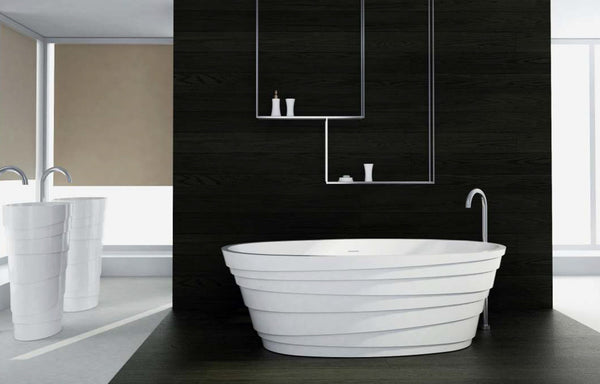 Controlbrand True Solid Surface Soaking Tub - Wave Glossy [BW5556SW]