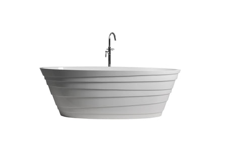 Controlbrand True Solid Surface Soaking Tub - Wave [BW5556MW]